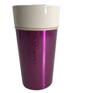 Starbucks Purple Metal Ceramic Travel Mug Cup